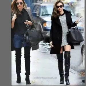 NEW size 10 Black leather boots Victoria's Secret